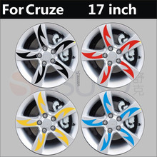 Beautiful Reflective Red / Black / Yellow / Blue Rims / Wheels Sticker For Chevrolet Cruze Z2CA445