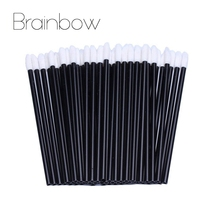 Brainbow 30pcs Disposable Lip Brushes Soft Make Up Brush For Lipstick Lip Gloss Wands Applicator Makeup Tools Beauty Essential(China)