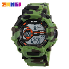SKMEI G Style Fashion Men Sports Camo Watches Multifunction LED Digital Wristwatches Shock Waterproof Outdoor Camouflage Watch(China)