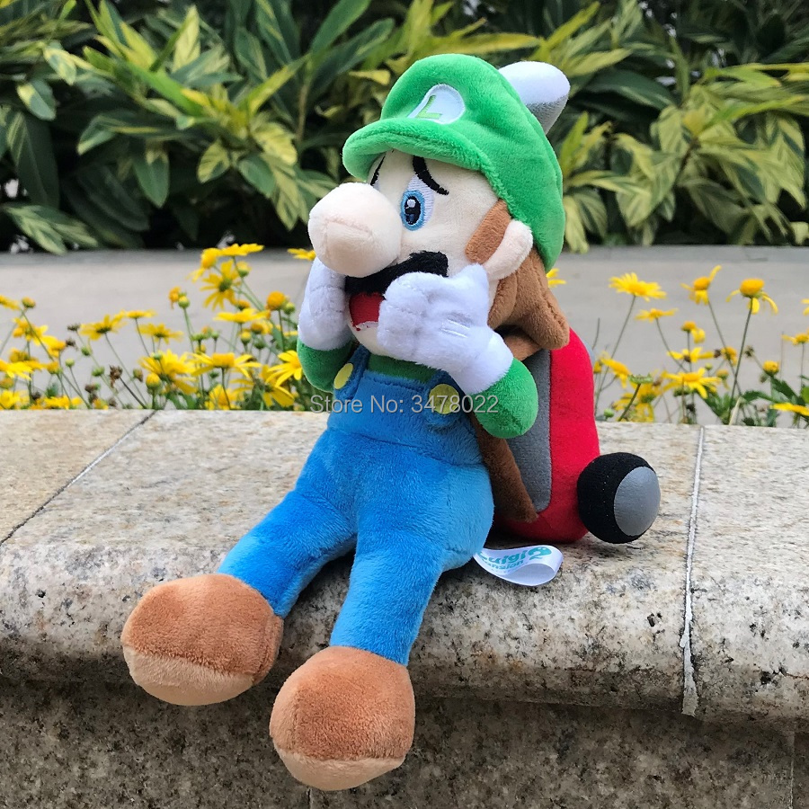 "Super Mario Game Luigi 9/"" Stuffed Animal Luigi`s Mansion 2 Figure Plush Toy Doll"