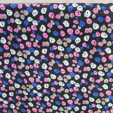 Scarf Material Soft Satin Linings Skull Fabric Charmeuse(China)