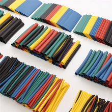 520Pcs 60mm 2:1 Polyolefin Heat Shrink HeatShrink Tube Tubing Kits Assorted Wrap Wire Kit RSFR-H 5 Colors Best