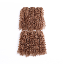 10inch Afro Bohemian Short Curly Synthetic Hair Weave Colored Blonde Noble Gold Hair Extensions Women Golden Beauty