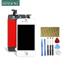 Ferising AAA Original LCD Display For Apple iPhone 4 4S Replacement Display Touch Screen Digitizer Assembly + Tools Kit