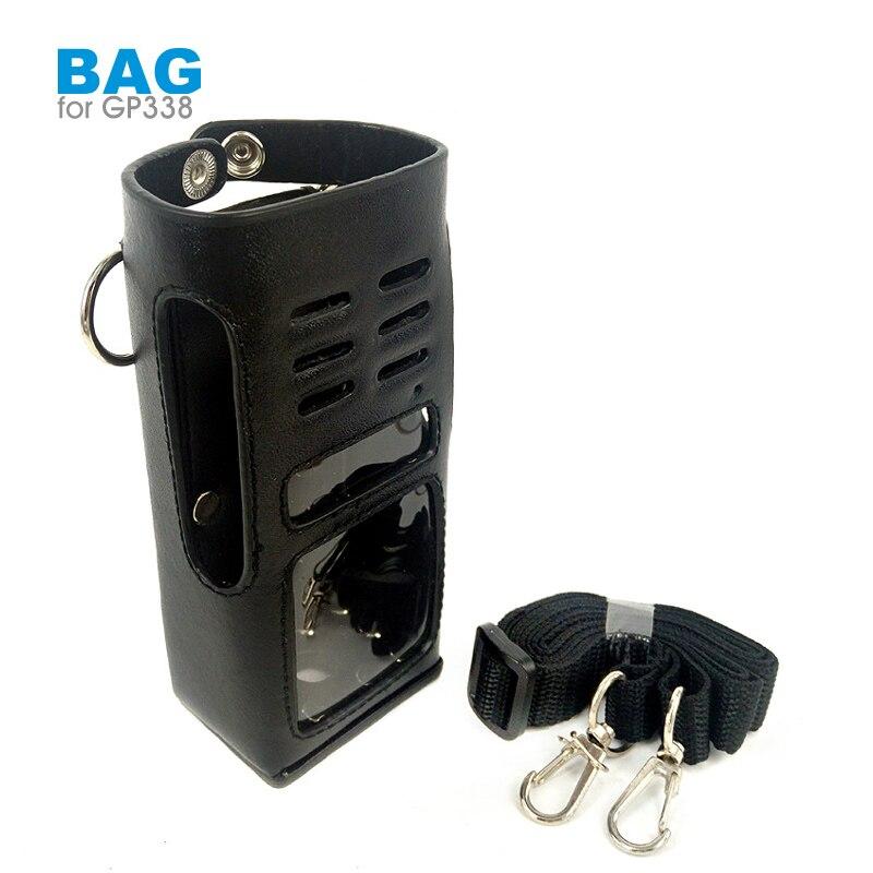 PU Leather Protective Sleeve Bag Case for Motorola GP338 0
