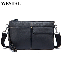 Buy WESTAL Casual Man Clutches Men Bag Genuine Leather Shoulder Bags Crossbody Bags Men Messenger Bags Male Day Clutches 8891 for $28.20 in AliExpress store