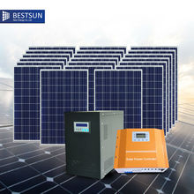 BFS-5000W-H Contains 20PCS Solar Panel 1 Set 5KVA Hybrid Controller Inverter Off Grid Solar Power System for Residential Use(China)