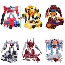 6Pcs/Lot 12cm Height Transformation Deformation Robot Toy Action Figures Toys Original Box