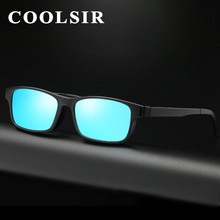 COOLSIR TR90 Polarized Sunglasses Men Lens Removable Glasses Frame Vintage Eyewear Women Optical oculos Brand Design gs2252(China)