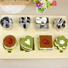 Bakeware Tools Stainless Steel Cupcake Mold Salad Dessert Die Mousse Ring Cake Cheese Tiramisu Biscuits Slicer Decorating Mould(China)