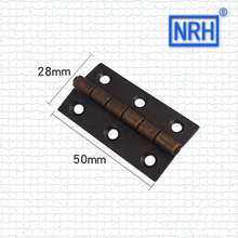 Furniture Hardware Antique Cabinet Solid Brass Hinge Classical Cabinet Doors Pure Copper Hinge Bronze Brass Hinge(China)