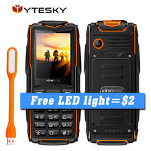 Russian Keyboard Vkworld Stone V3 IP68 Waterproof Phone 2.4'' 3 Sim Card Slots 3000mAh Battery Long Standby Outdoor Rugged Phone