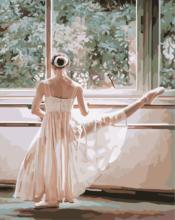 Drawing Diy Oil Painting Wall Art  New Practice ballet Frameless Canvas  Painting By Numbers Hand Painted