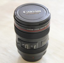 New Coffee Lens Emulation Camera Mug  Beer mug Wine With Lid Black Plastic Cup&Caniam Logo  Mugs tazas cafe