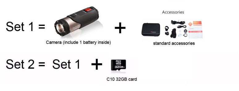 SOOCOO SWS Mini Camcorder Action Camera Built-in WiFi Full HD 1080P 10m Wateproof Sports Camera 1