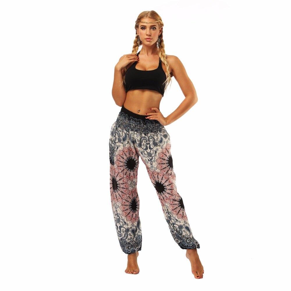 TL010- Watercolor floral wide leg loose yoga pants leggings (2)