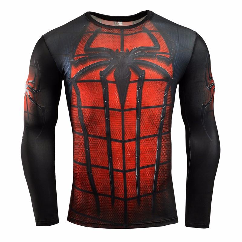 Marvel Gyms Clothing Fitness Compression Shirt Men Batman t-shirt men Long Sleeve 3D t shirt men Crossfit Tops tee shirt homme 20