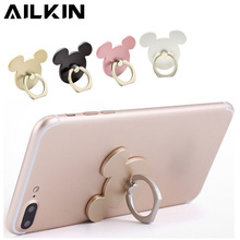 Finger Mobile Ring Phone Holder Stand For iPhone Samsung Mouse Head Cellphone Stand Universal Holder Stand For your Mobile Phone(China)