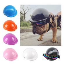 Pet-Cap Motorcycle-Helmet French Bulldog Chihuahua Dog-Hat Dogs Funny Small Party Summer