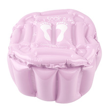 2017 High Quality Pink Foot Feet Soak Bath Inflatable Basin Wash Spa Home Use Pedicure Care Relax