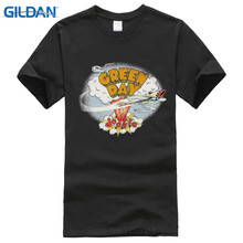 Top Tees Custom Any Logo Size Gildan Crew Neck Men Green Day Dookie Cover Print Short Tee
