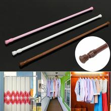 New 62-110cm Adjustable Spring Loaded Bathroom Shower Curtain Rod Tension Extendable Telescopic Poles Rail Hanger Hot Sale