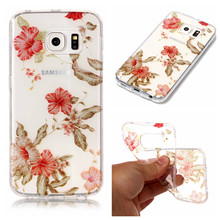 Plum Roses Flowers Puppy Princess Panda image Painted Glitter Soft TPU Case for Samsung Galaxy s6 S6edge Silicone Phone Case