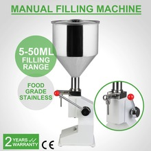 5~50ml  MANUAL FILLING MACHINE STAINLESS STEEL PISTON STRUCTURE PNEUMATIC OPERATION FOR LIQUID NO-DRIP OPTION 40 BOTTLES/MIN