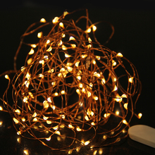 LED Fairy Light 2m 3m LED String Light Waterproof Copper Wire Powered by CR2032 Battery for Garland Christmas Wedding Decoration(China)