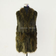 SJ367-03 Trench Fashionable Winter Fur Coat OEM Vests Woman Army Green