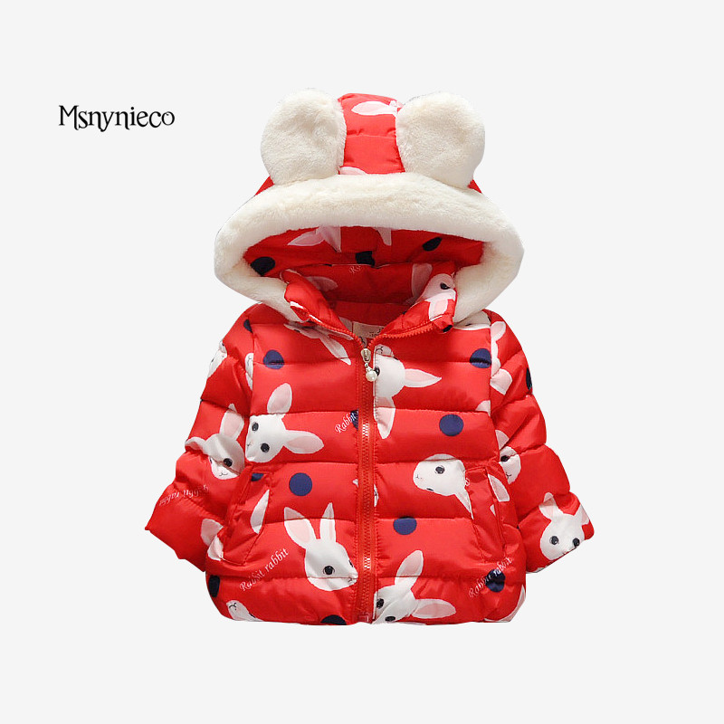 Winter Baby Coats 2017 Fashion Cartoon Children Warm Outerwear Kids Jackets For Girls Clothes Infant Overcoat Children Clothing<br>