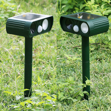Ultrasonic pest Repeller Solar Power Eco-Friendly Dog Cat Fox Repeller Repellent Animal Deterrent Pest Control for Garden Yard(China)