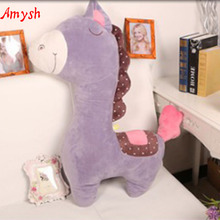 Amysh HOT 35CM Soft Plush Toys cute Long neck horse Appease Doll Baby Hold Muppet Toy Gifts for the children baby kids toy Horse(China)