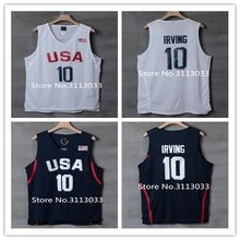 New #10 Kyrie Irving Dream Team usa Basketball Jersey Embroidery Stitched(China)