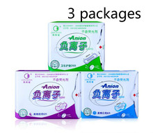 The monthly love negative ion sanitary napkin, women's menstrual underwear 3 pieces of nursing pads the underpants high quality