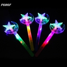 FGHGF Glow Stick LED Light Stick Camping Decor Party Clubs Supplies Butterfly Stars Moon Crown Colorful Fluorescent for Party