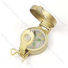 Explorer Camping Hiking Engineer Directional Compass Gold