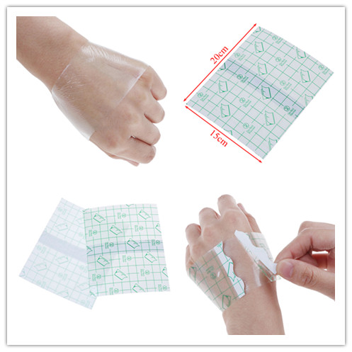 10PCS Waterproof Anti-allergic Wound Tape 15*20m Breathable Transparent Tape Adhesive Plaster Waterproof Shower Bath Tools