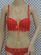 Europe and the United States big trend fashion jewelry super sexy bikini on both sides of the golden body chain, nightclub jewel