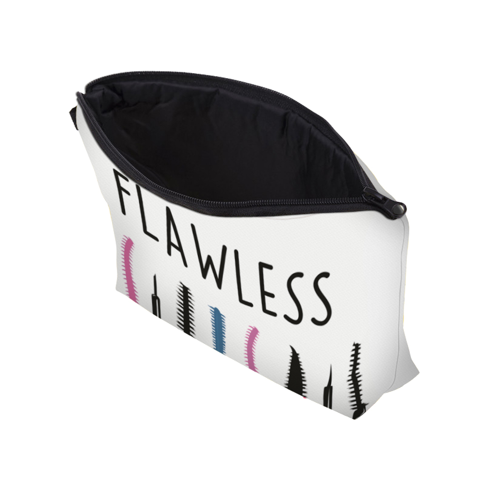 """I Like My Eyelashes"" Printed Makeup Bag Organizer 13"