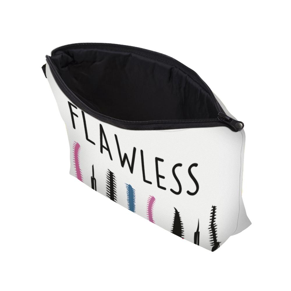 """I Like My Eyelashes"" Printed Makeup Bag Organizer 13"