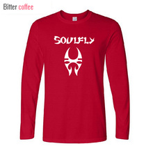 2017 NEW Heavy Metal Rock Band Soulfly Men T Shirt winter Style Man long Sleeve Cotton T-Shirt Hip Hop Men Tees Top