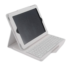 Fashion PU Leather Litchi Case for apple iPad 2 ipad 3 ipad 4 Tablet PC Bluetooth keyboard Siamese protective sleeve