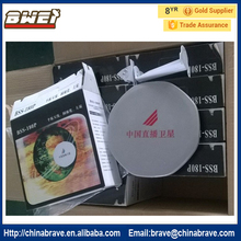 strong signal 26 cm ku band mini satellite antenna dish type with ku lnb