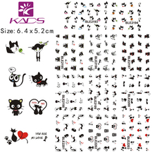 11Sheet/lot BLE2193-2203 Black Cat design Water decal Nail Sticker For nail water transfer nail decals for Sticker Decals(China)