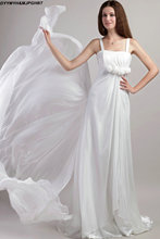 Glamours Papilio Summer Beach Wedding Dresses Spaghetti Strap Simple White/Ivory Chiffon Bridal Gowns Novais