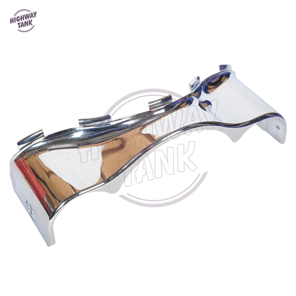 Chrome Motorcycle Lower Trim Skirt Fairing case for Harley Davidson Touring Electra Street Glide 2014-2017<br>