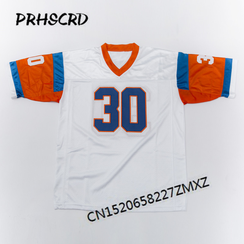Retro star #30 Terrell Davis Embroidered Throwback Football Jersey(China)