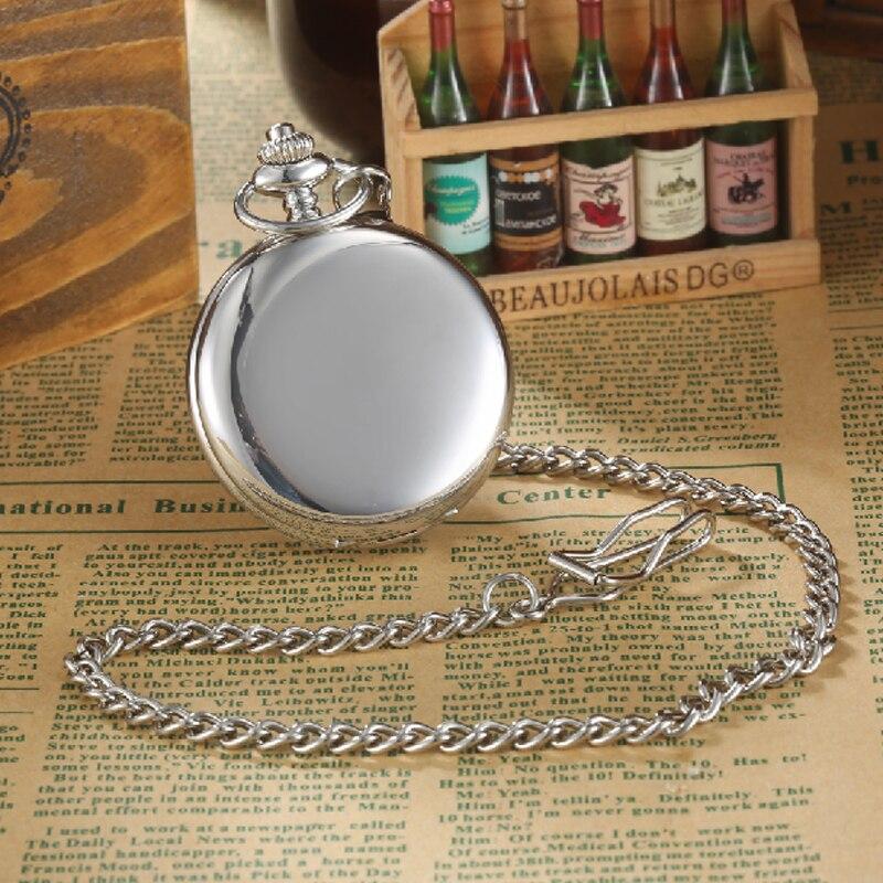 2016 GORBEN Luxury Silver Polishing Mens Quartz Pocket Watch Roman Numbers Display Pendant Necklace Chain Relogio De Bolso Gifts<br><br>Aliexpress