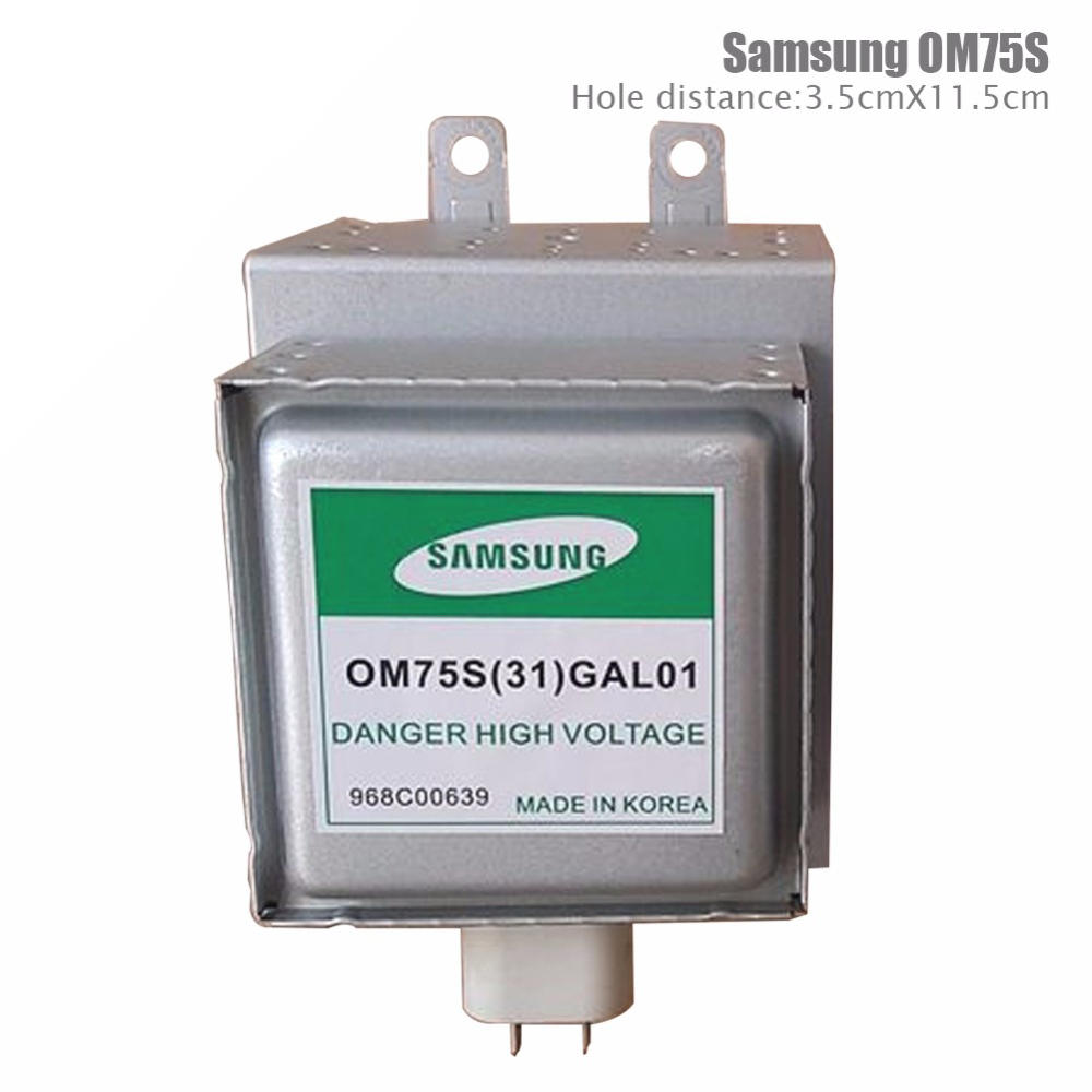 2pcs/lot Free shipping High Quality ! Microwave Oven Parts,Microwave Oven samsung Magnetron OM75S(31)GAL01 Refurbished Magnetron<br>